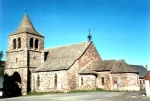Cheylade roman Church near the Limon Puy Mary guesthouse, Cantal