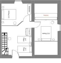 1rst floor map of the Limon Puy Mary guesthouse - Cantal