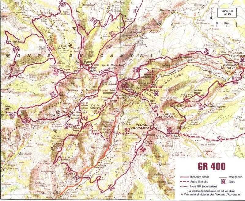 GR400 Randonnee-cantal-gr400-carte