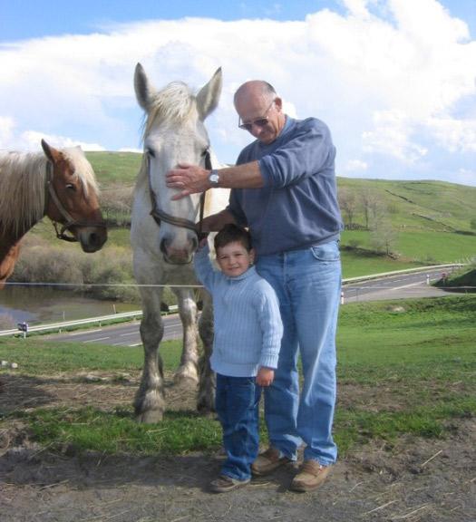 gabriel avec les chevaux